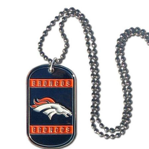 Denver Broncos Necklace Tag Style