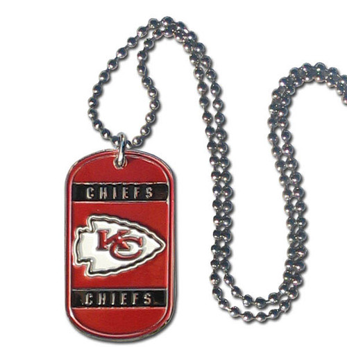 Kansas City Chiefs Necklace Tag Style