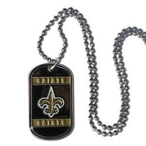 New Orleans Saints Necklace Tag Style