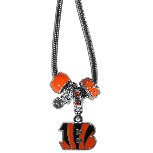 Cincinnati Bengals Necklace Euro Bead Style