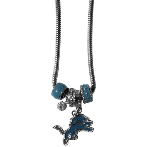 Detroit Lions Necklace Euro Bead Style