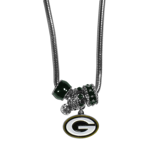 Green Bay Packers Necklace Euro Bead Style