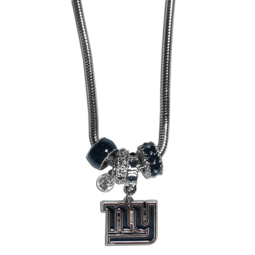 New York Giants Necklace Euro Bead Style