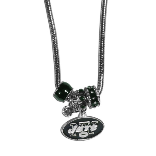 New York Jets Necklace Euro Bead Style