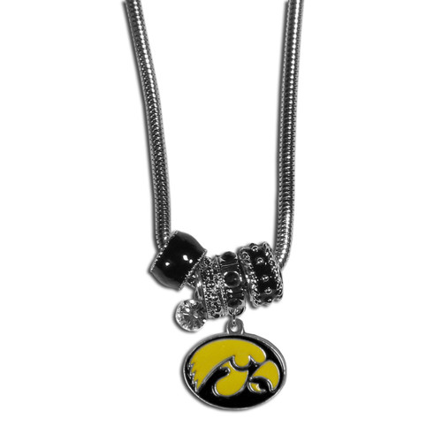 Iowa Hawkeyes Necklace Euro Bead Style