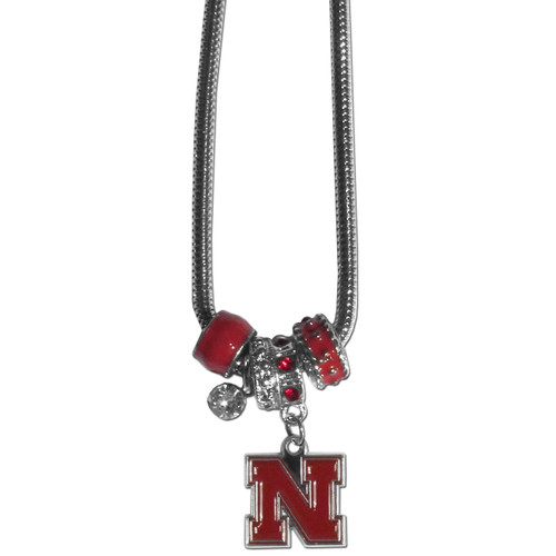 Nebraska Cornhuskers Necklace Euro Bead Style