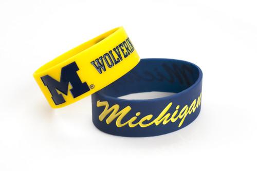 Michigan Wolverines Bracelets 2 Pack Wide