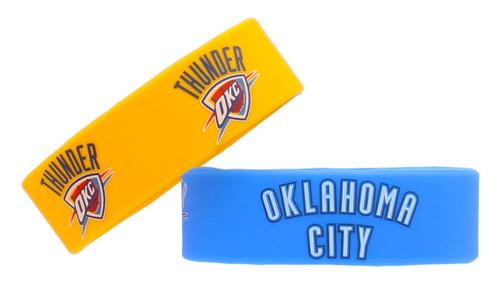 Oklahoma City Thunder Bracelets 2 Pack Wide