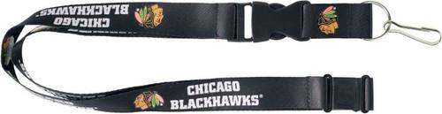 Chicago Blackhawks Lanyard Black