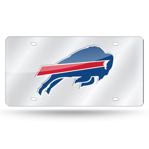 Buffalo Bills License Plate Laser Cut Silver