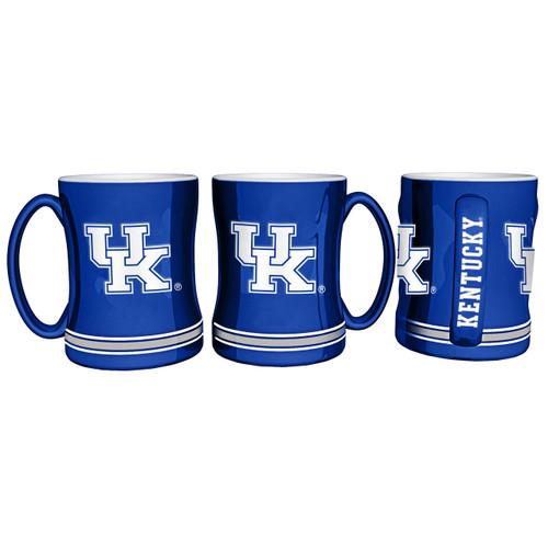 Kentucky Wildcats Coffee Mug 14oz Sculpted Relief