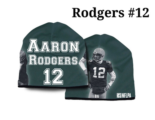 Green Bay Packers Beanie Lightweight Aaron Rodgers Design