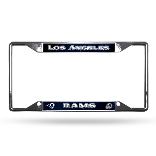 Los Angeles Rams License Plate Frame Chrome EZ View New