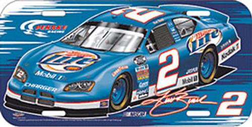 Kurt Busch License Plate Plastic Special Order
