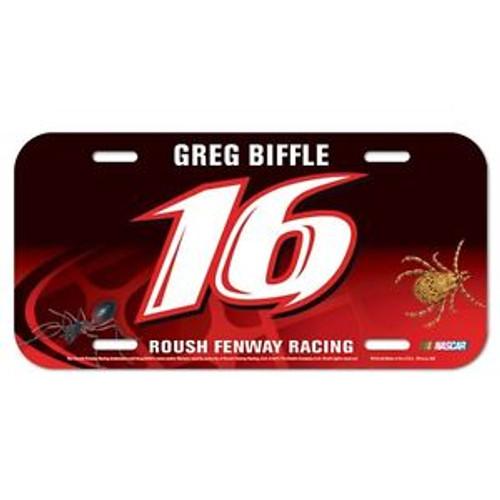 Greg Biffle License Plate Plastic