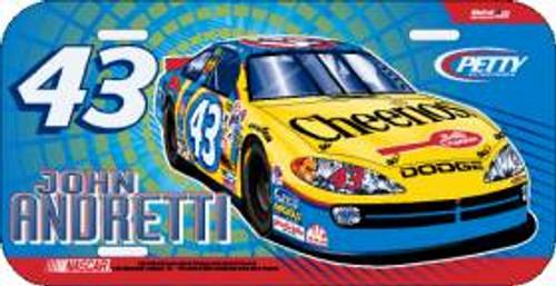 John Andretti License Plate Plastic