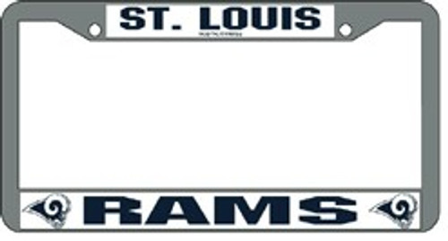 St. Louis Rams License Plate Frame Chrome