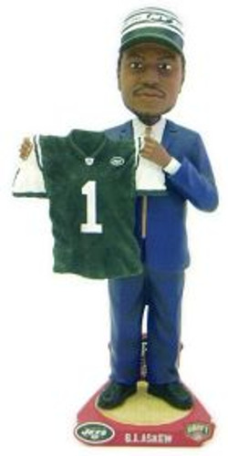 New York Jets B.J. Askew Draft Pick Forever Collectibles Bobblehead
