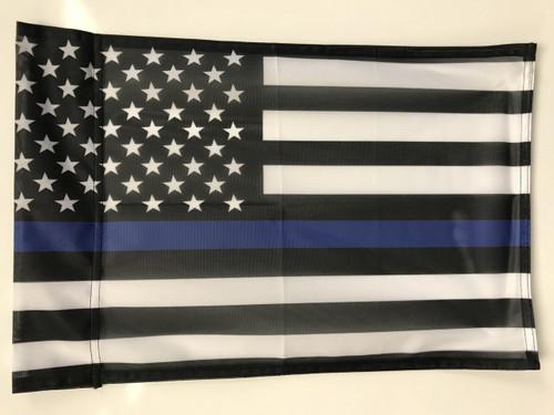 USA Blue Line Flag 12x18 Garden Style