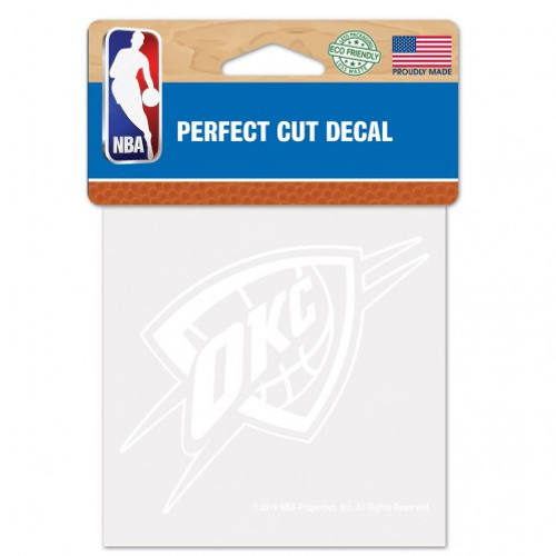 Oklahoma City Thunder Decal 4x4 Perfect Cut White