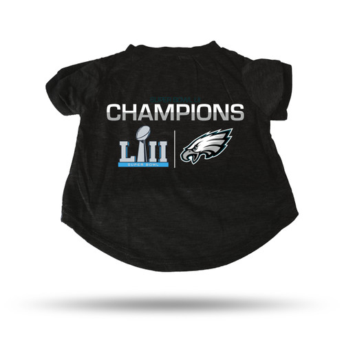 Philadelphia Eagles Pet T-Shirt Size Small Super Bowl 52 Champs