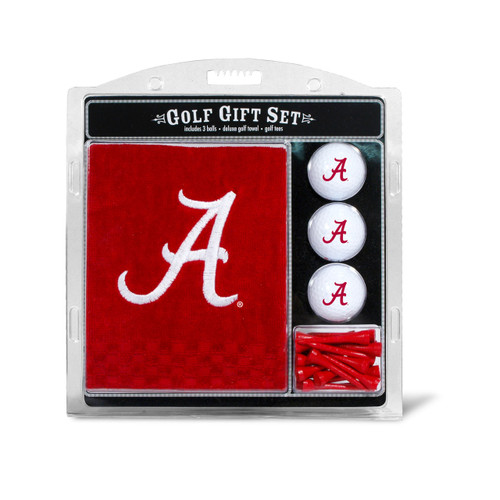 Alabama Crimson Tide Golf Gift Set with Embroidered Towel