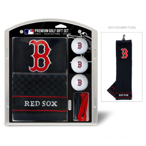 Boston Red Sox Golf Gift Set with Embroidered Towel