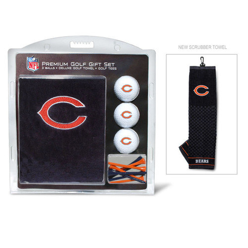 Chicago Bears Golf Gift Set with Embroidered Towel
