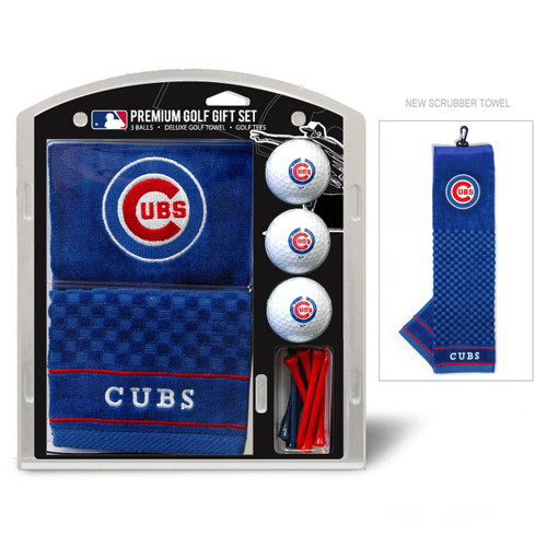 Chicago Cubs Golf Gift Set with Embroidered Towel