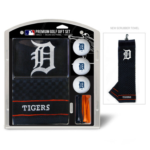 Detroit Tigers Golf Gift Set with Embroidered Towel