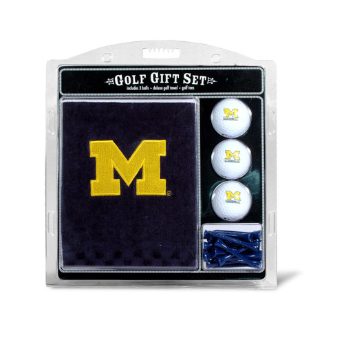 Michigan Wolverines Golf Gift Set with Embroidered Towel