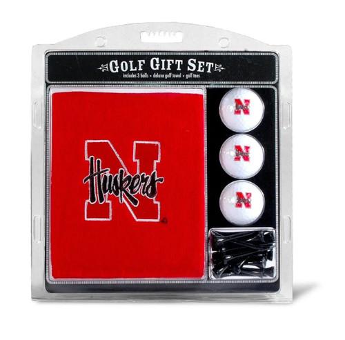 Nebraska Cornhuskers Golf Gift Set with Embroidered Towel