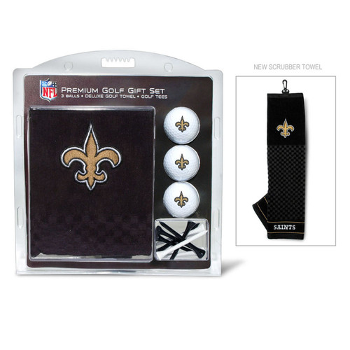 New Orleans Saints Golf Gift Set with Embroidered Towel