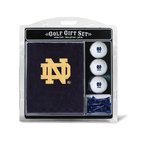 Notre Dame Fighting Irish Golf Gift Set with Embroidered Towel