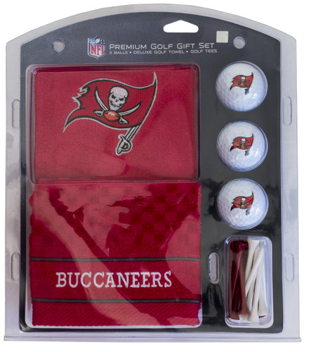 Tampa Bay Buccaneers Golf Gift Set with Embroidered Towel