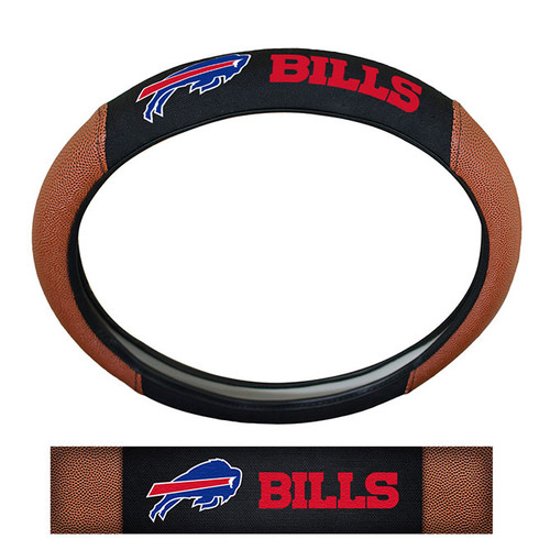 Buffalo Bills Steering Wheel Cover Premium Pigskin Style