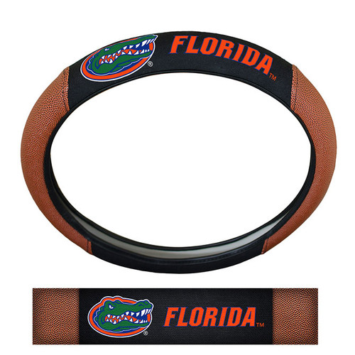 Florida Gators Steering Wheel Cover Premium Pigskin Style