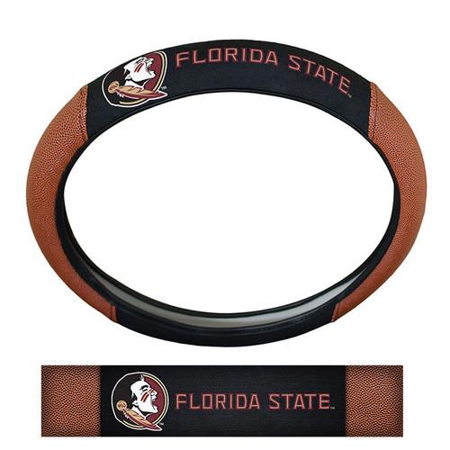 Florida State Seminoles Steering Wheel Cover Premium Pigskin Style