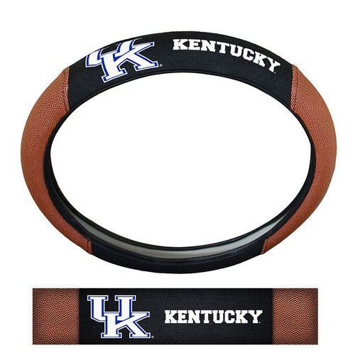 Kentucky Wildcats Steering Wheel Cover Premium Pigskin Style
