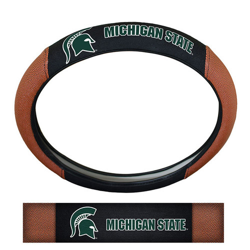 Michigan State Spartans Steering Wheel Cover Premium Pigskin Style