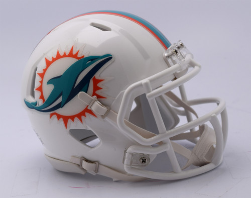 Miami Dolphins Helmet Riddell Replica Mini Speed Style 2018