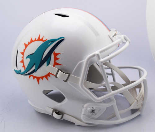 Miami Dolphins Helmet Riddell Replica Full Size Speed Style 2018