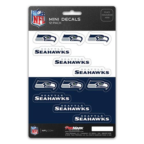 Seattle Seahawks Decal Set Mini 12 Pack