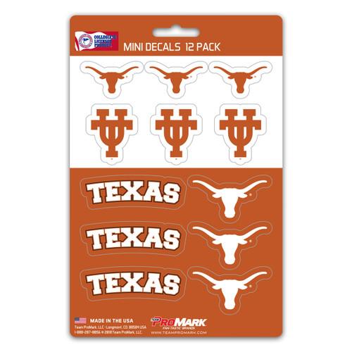Texas Longhorns Decal Set Mini 12 Pack