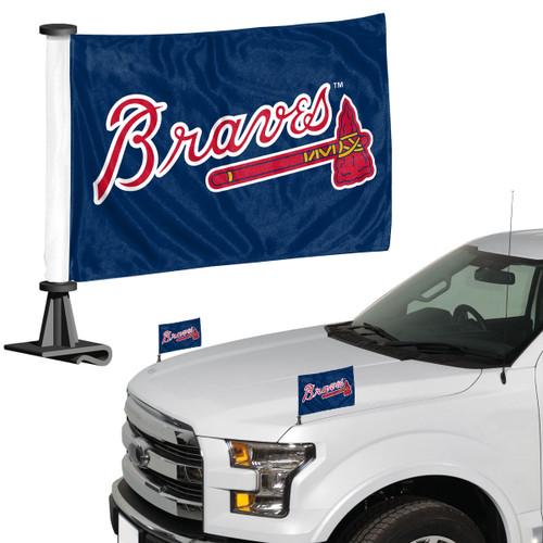 Atlanta Braves Flag Set 2 Piece Ambassador Style