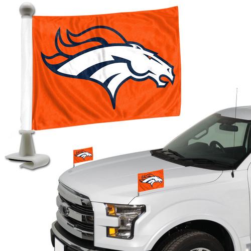 Denver Broncos Flag Set 2 Piece Ambassador Style