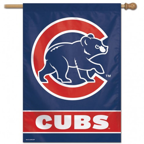 Chicago Cubs Banner 28x40 Vertical