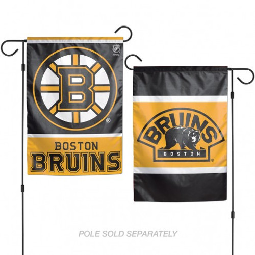 Boston Bruins Flag 12x18 Garden Style 2 Sided