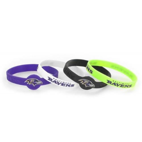 Baltimore Ravens Bracelets 4 Pack Silicone