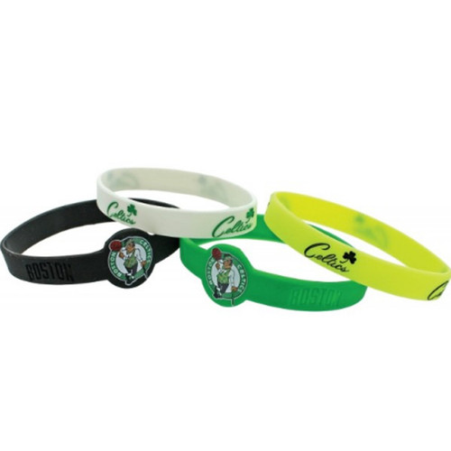 Boston Celtics Bracelets 4 Pack Silicone